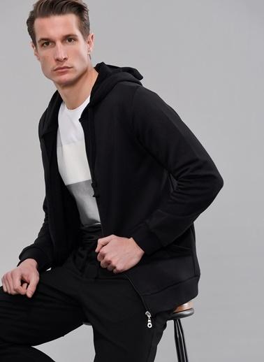 People By Fabrika Fermuarlı Sweatshirt Siyah